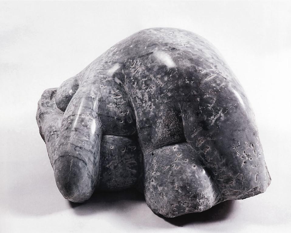 """""""Mütterliche"""" 1990, italienischer Marmor, teilw. poliert, 48x47x30cm"""
