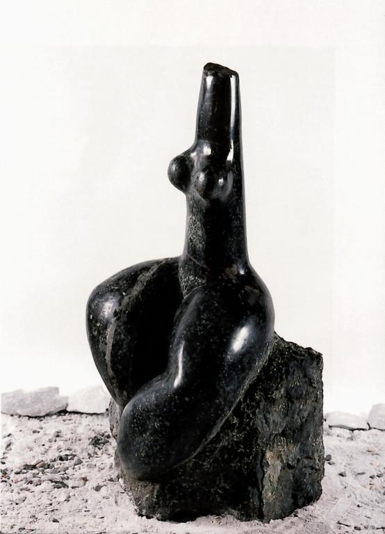 """""""Freude"""" 1982, Serpentin, poliert, 35x36x58cm"""
