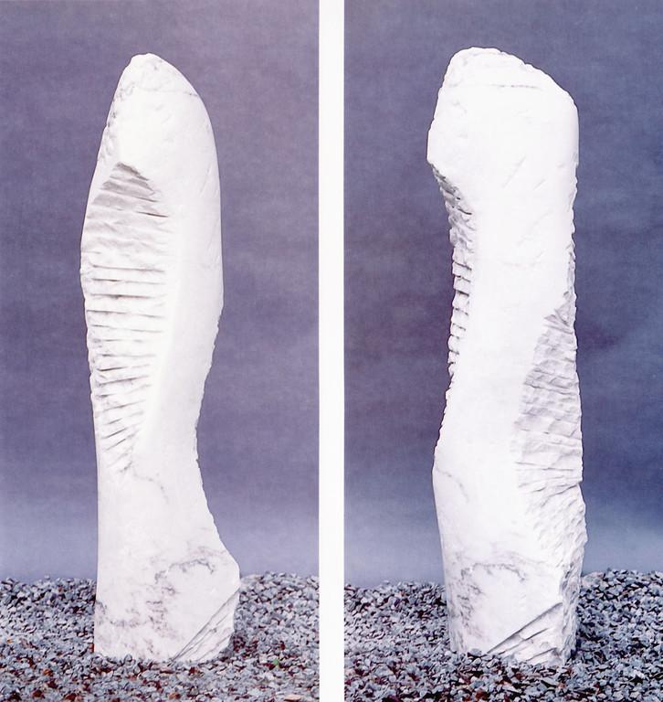 """o. T."" 1996, Griechischer Marmor, H 168cm"