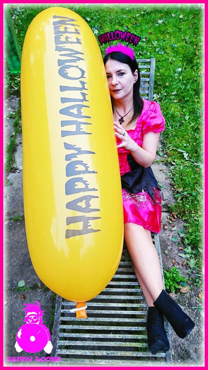 CATTEX Giant banner balloon Luftballon Halloween Riesenballon Zeppelin