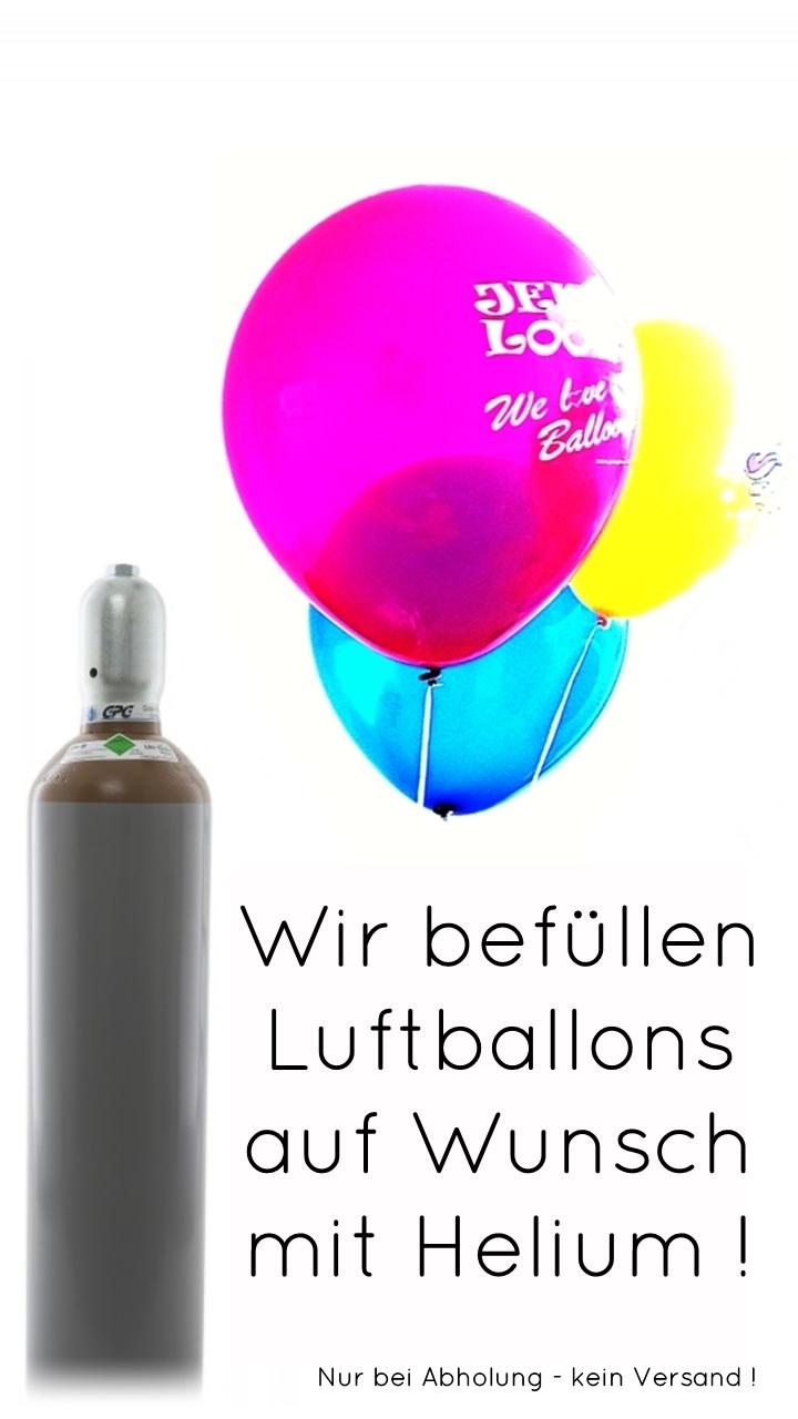 Heliumbefüllung Luftballons