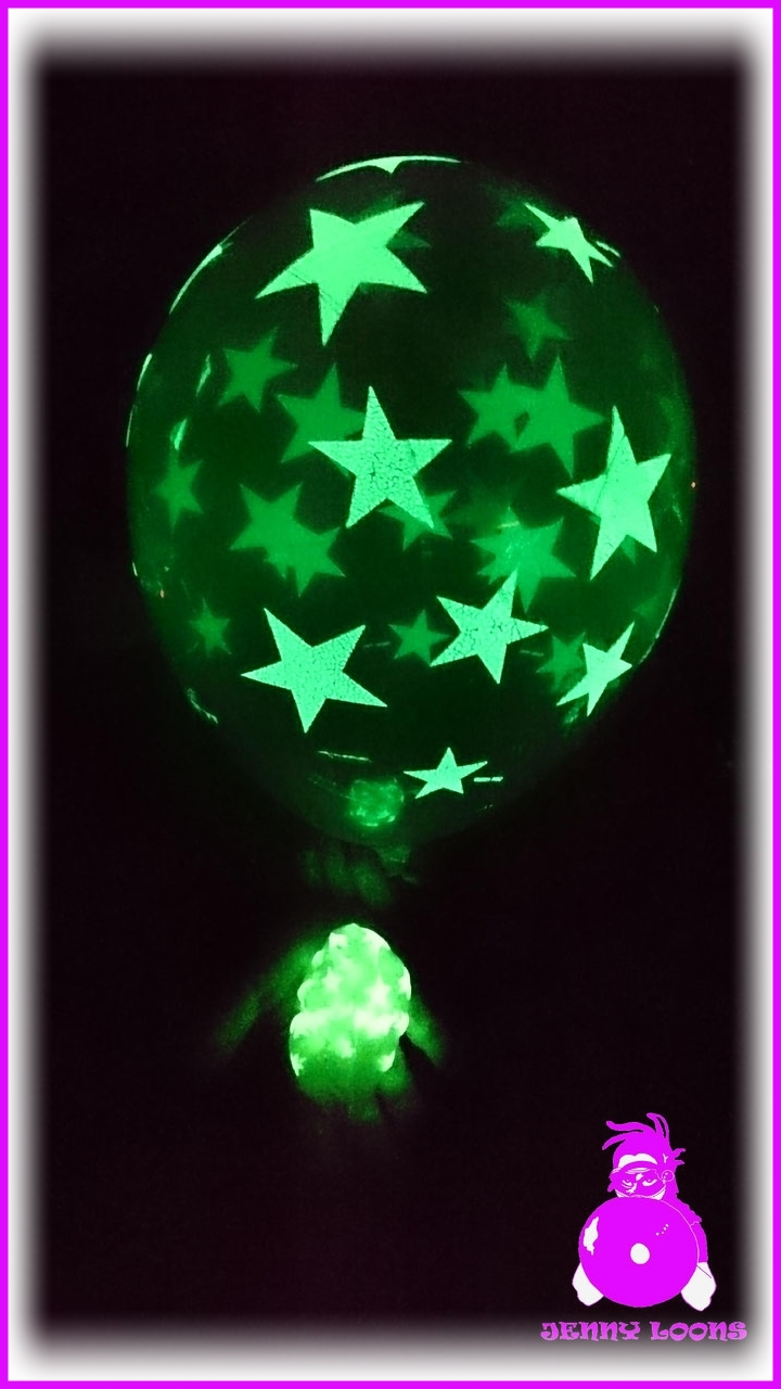 "Qualatex 11"" Glowstar Glow in the dark - Leuchtballons"