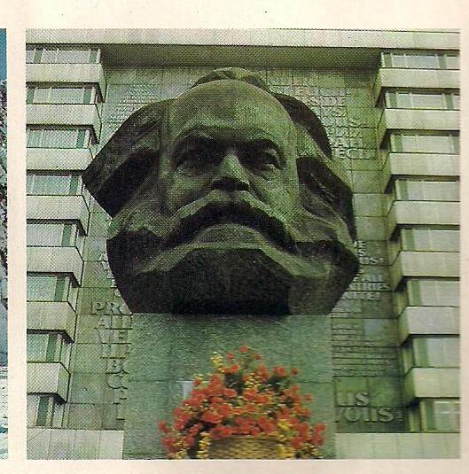 """Der Karl Marx-Kopf, von den Chemnitzern auch liebevoll """"Nischel"""" genannt"""