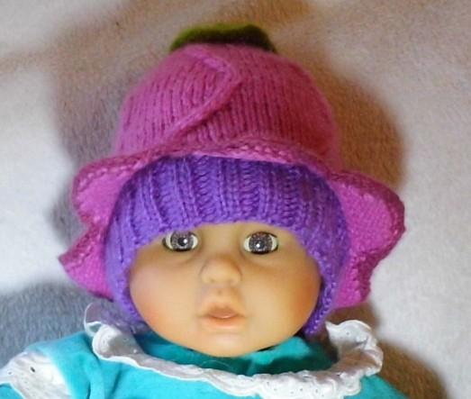 Детская шапочка, вязание,детские вещи вязание спицами