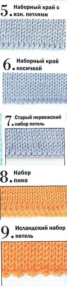 набор петель, вязание