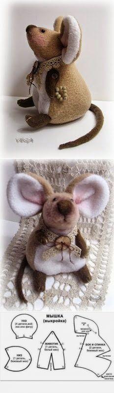 выкройки мышей . крыс.  грызунов