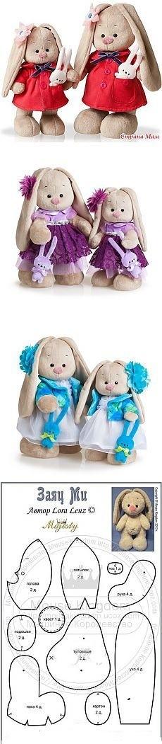 одежда аксессуары для игрушек платья для кукол выкройка зайца