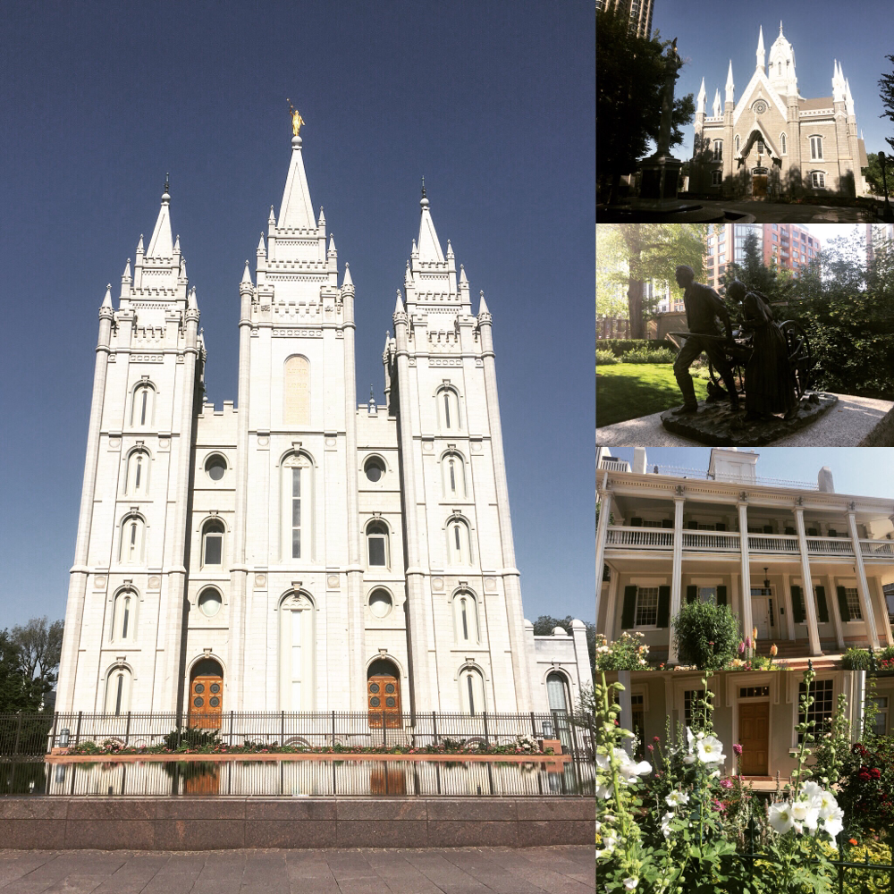 Der Temple Square in Salt Lake City, Hauptstadt der Mormonen