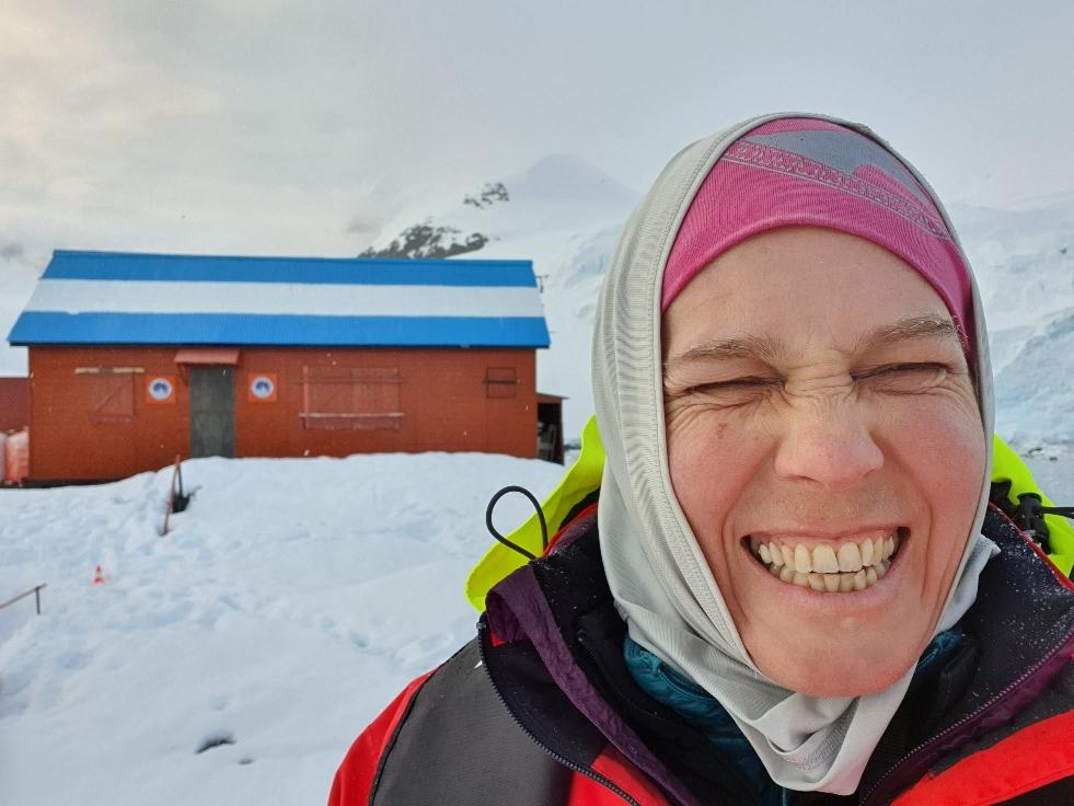 Ich stehe tatsächlich auf dem antarktischen Kontinent - nur noch ca. 3000 km zum Südpol!