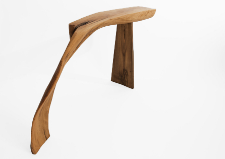 C1034 · Oak, European Walnut#bench#stool#console#sculpture##woodworking#interiordesign#woodsculptures#art#woodart#wooddesign#decorativewood#originalartwork#modernwoodsculpture#joergpietschmann#oldwood