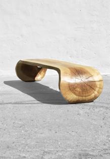 Console/Bench · C1208 · Ash#bench#stool#console#sculpture#bowl#coffeetable#woodworking#interiordesign#woodsculptures#art#woodart#wooddesign#decorativewood#originalartwork#modernwoodsculpture#joergpietschmann#oldwood