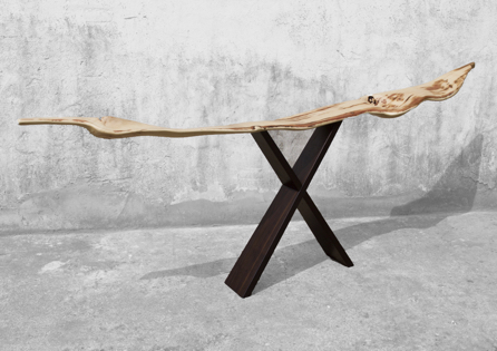C1176 · Beech, Smoked Oak#bench#stool#console#sculpture##woodworking#interiordesign#woodsculptures#art#woodart#wooddesign#decorativewood#originalartwork#modernwoodsculpture#joergpietschmann#oldwood