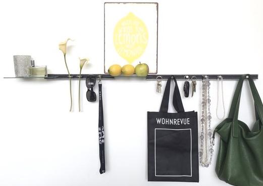 Wohnrevue Blog, Medienbericht schlüsselbrett, Alu Designleiste, Design Award, genial einfach, multifunktional, Ordnungswunder, Designfilz, Garderobe, Küche, Bad