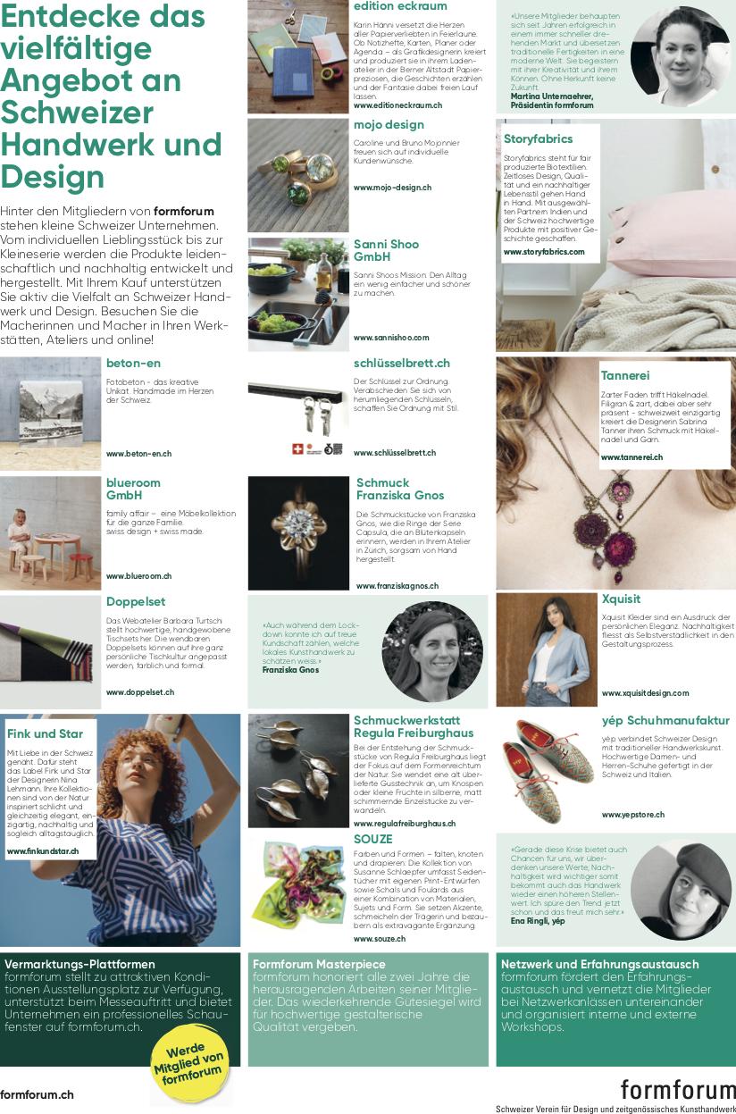 NZZ am Sonntag, Medienbericht, Alu Designleiste, Schlüsselbrett, Schlüsselaufbewahrung, Designfilz, Schlüssel, Schweizer Handwerk