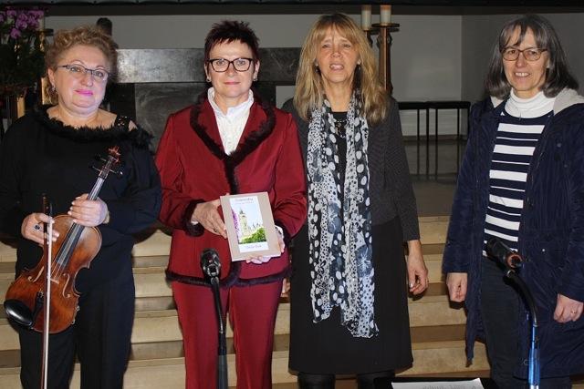 Auf dem Gruppenbild sind zu sehen (von links):  Maria Schmalz, Gisela Gläser, Beatrice Fuhr-Herz und Gabi Pfohl