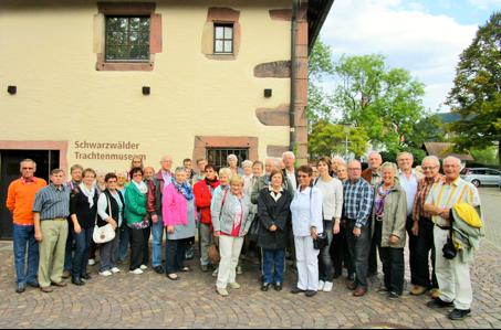 Chor beim Ausflug nach Haslach im Schwarzwald