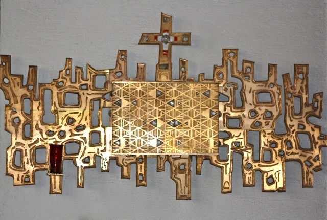 """""""Tabernakel (1967) mit umgebendem Ornament"""" (1973) von ANTON KUNZ (1906-1991)"""