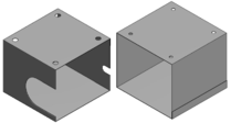 Quaderförmige Abschirmbecher QB