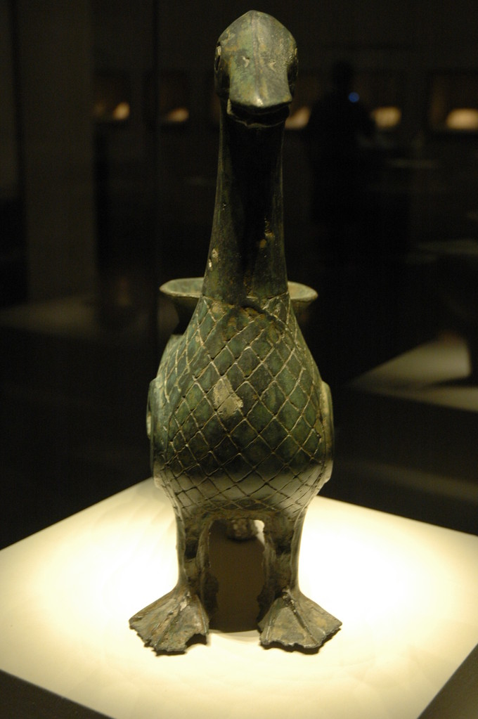 Lingyuan: Wine vessel in the shape of a red breasted goose: 3,000 years old: Image: Lynn Fawcett
