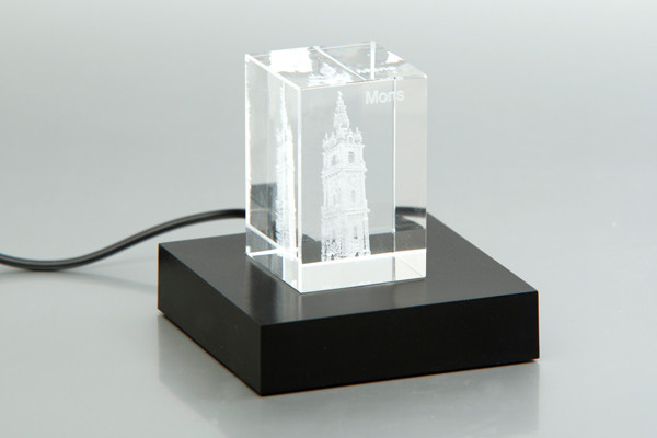 Bloc en cristal 3D