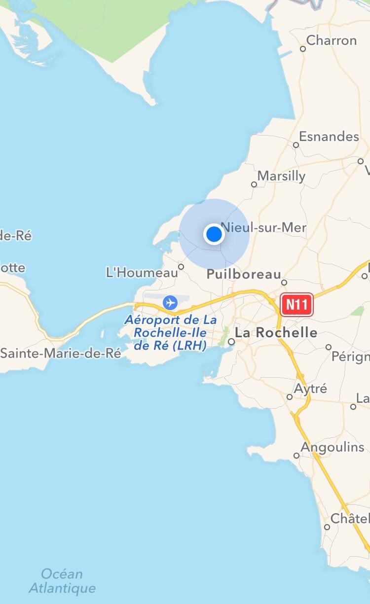 Nieul sur mer, charmant village côtier , près de La Rochelle, de l'ile de Ré, le long des falaises de la baie de l'Aiguillon.