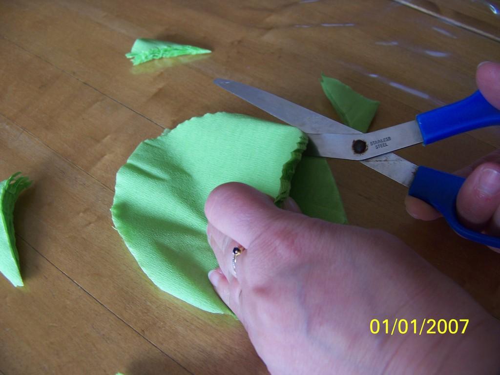 4) Prendre deux ovales et les croiser