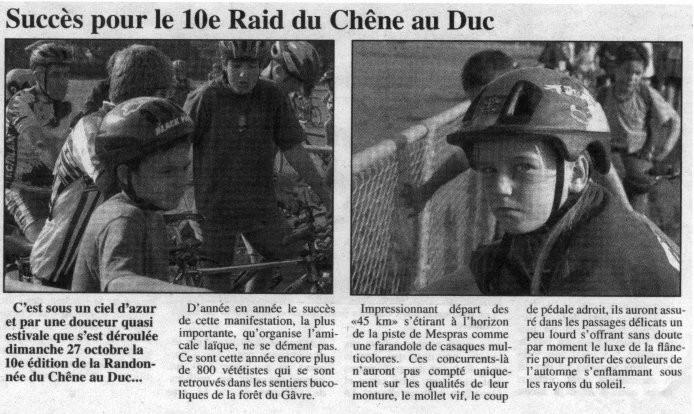 L'Eclaireur - 09 novembre 2001