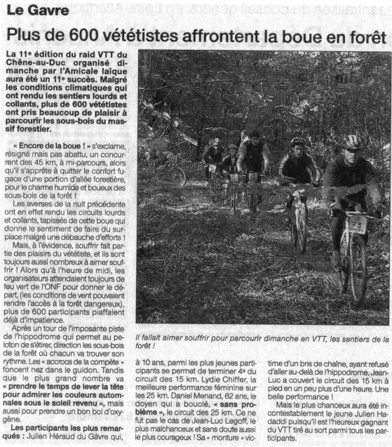Ouest France - 29 Octobre 2002