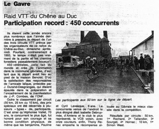 Ouest France - 30 octobre 1994