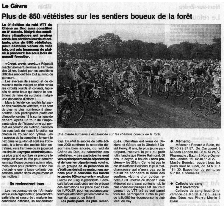 Ouest France - 31 octobre 2000