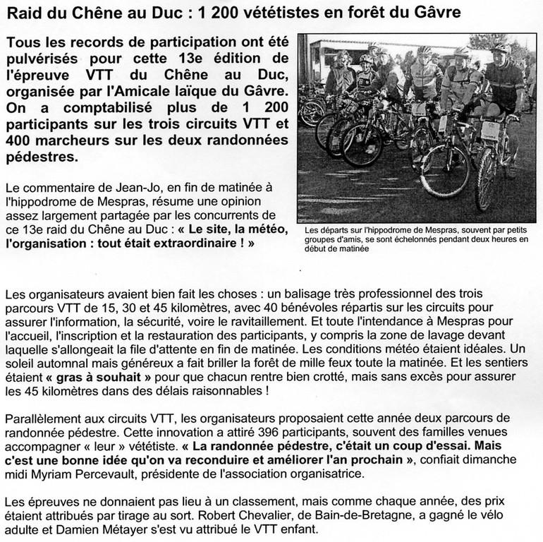 Ouest France - 2 Novembre 2004