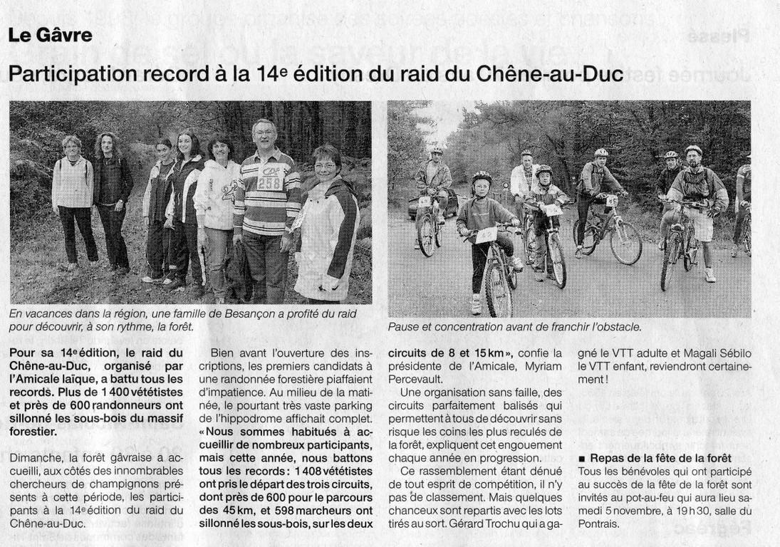 Ouest France - 31 Octobre 2005