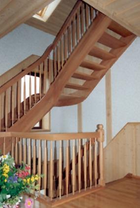 Holztreppe aus Buchenholz
