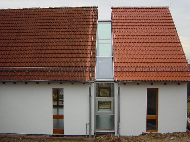 Glaseinsatz im Dach durchgehend