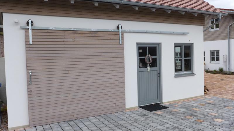 Garagenrolltor aus Holz