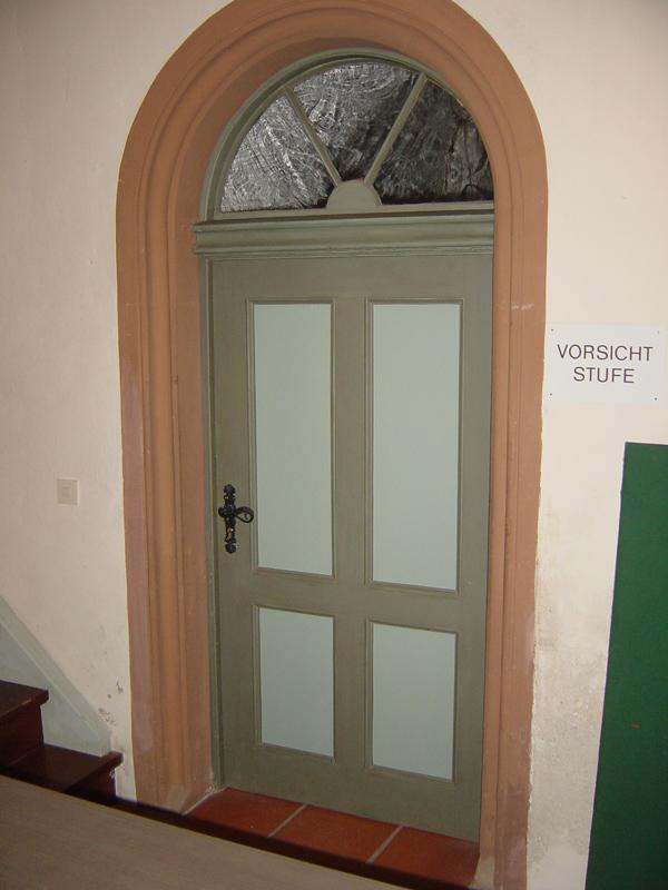 Neuanfertigung Holztür für öffentl. Gebäude nach Vorgaben des Denkmalschutzes