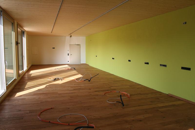 Parkettholzboden für Büro- und Verkaufsräume