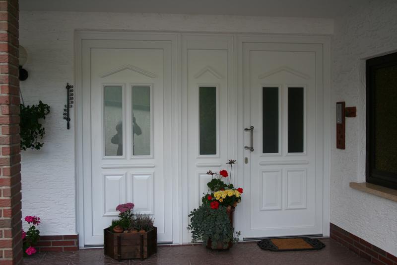 3-teilige Kunststoff Haustür