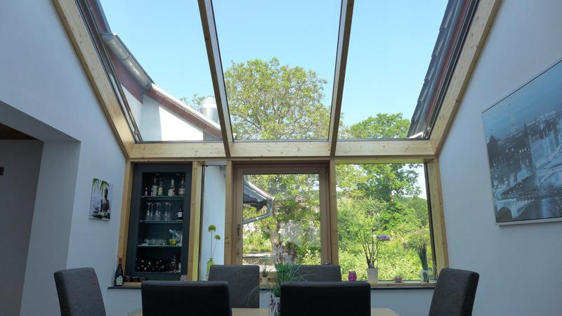 Glaseinsatz im Dach