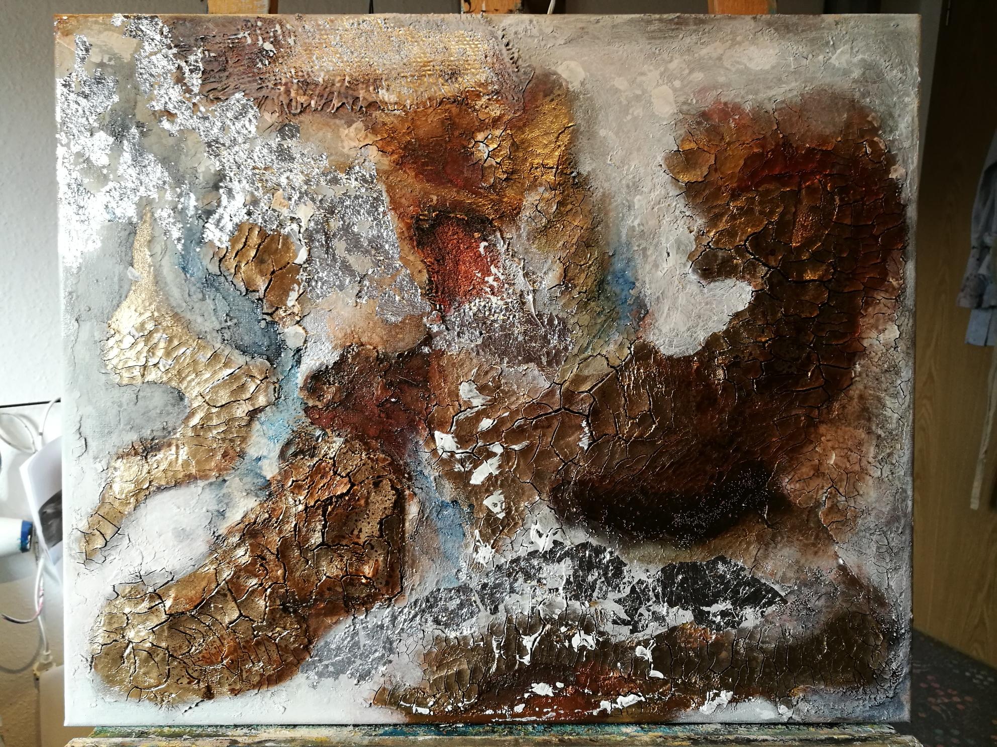 Acryl und Strukturmaterial auf Leinwand, 80 x 80 Regina Sommer