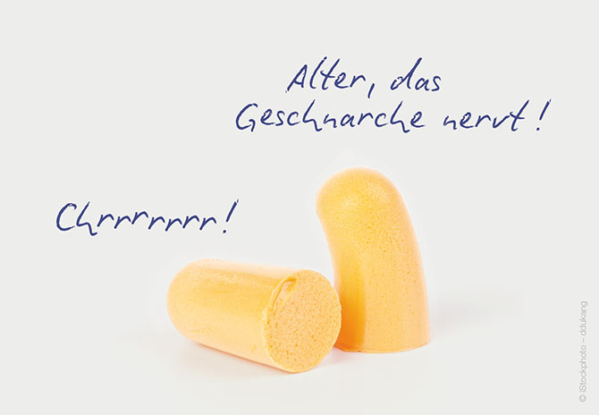 "Postkarte ""Life of earplugs"""