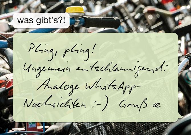 "Postkarte ""WhatsApp"""