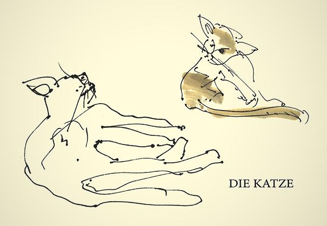 "Postkarte ""Die Katze"""