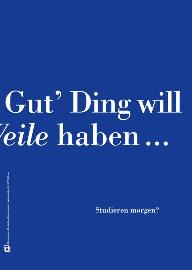 """Plakatwettbewerb """"Zeitsprung: Studieren morgen"""""""