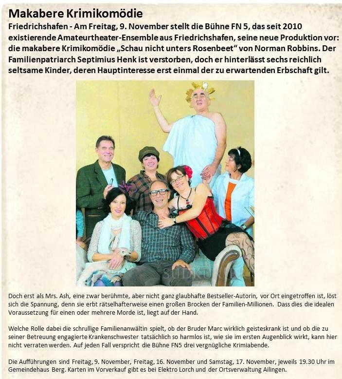 SK-Vorbericht 2011-11-06 Schau nicht unters Rosenbeet