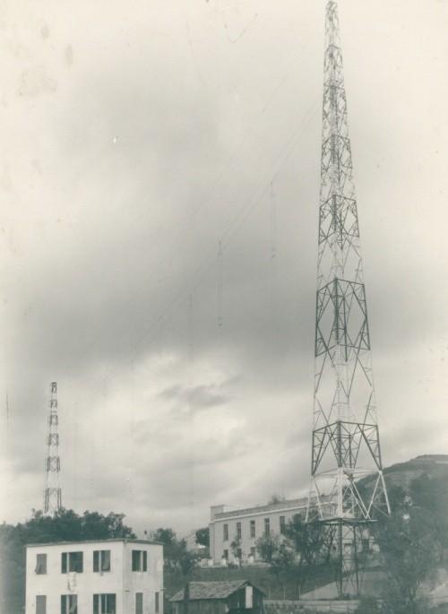 Genoa Monte Righi Castellaccio Sala trasmissione di  Genoa-Radio/ICB  anno 1950