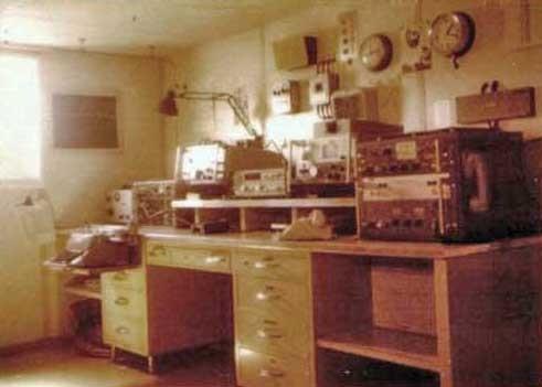 Sala radio di una nave
