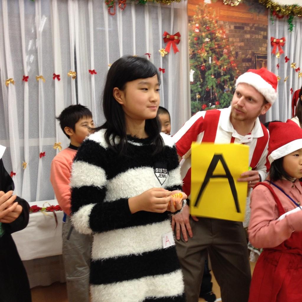 クリスマス会での一コマ