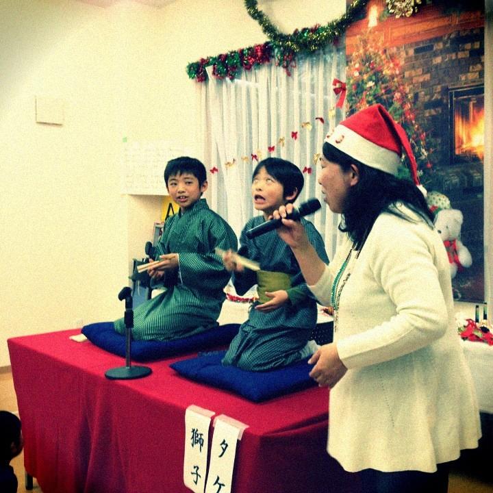 子ども落語  クリスマス会にて