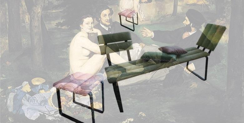 """Superposition picturale """"Le déjeuner sur laine"""" © Atelier Marlène Vidal"""